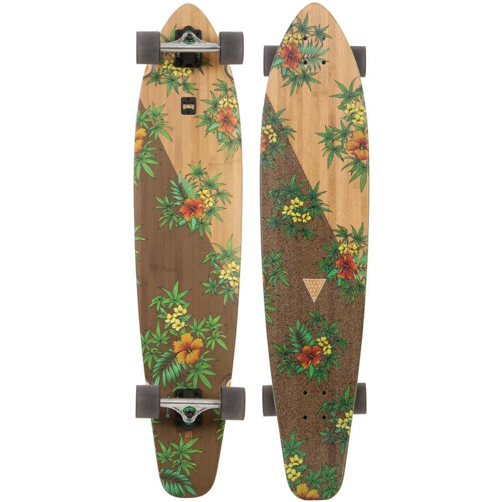 グローブ ユニセックス スケートボード ボード・板【Byron Bay Bamboo Longboard Complete】Bamboo/ Hibiscus