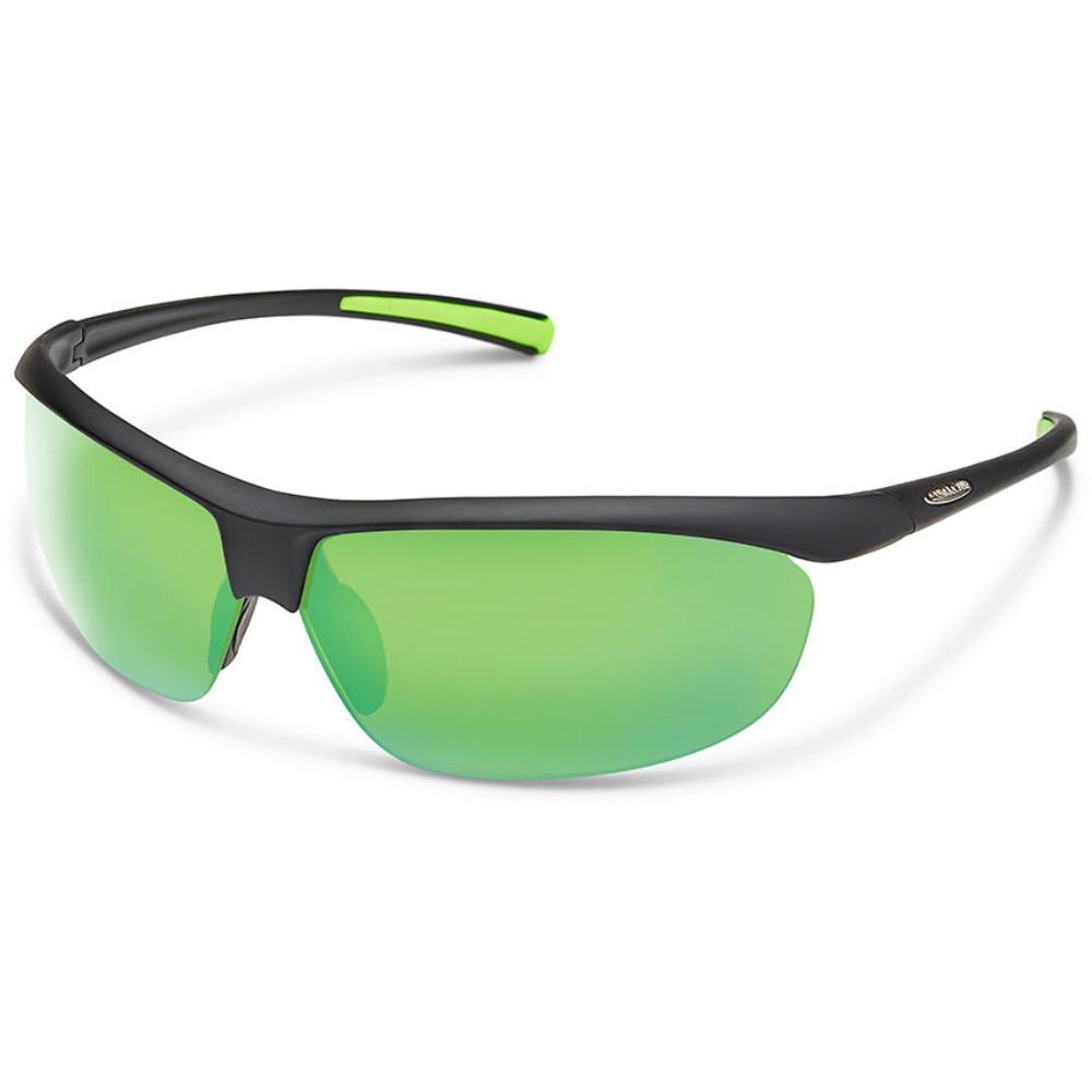 サンクラウド メンズ スポーツサングラス【Zephyr Sunglasses】Matte Black/ Polarized Polycarbonate Green Mirror Lens