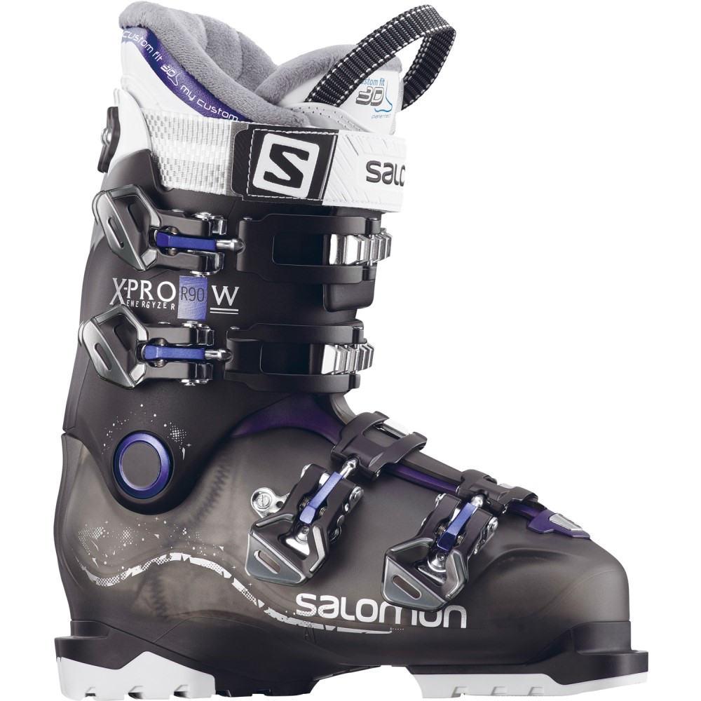 サロモン レディース スキー・スノーボード シューズ・靴【X Pro R90 Ski Boots】Anthracite Translucent/ Black/ Dark Purple