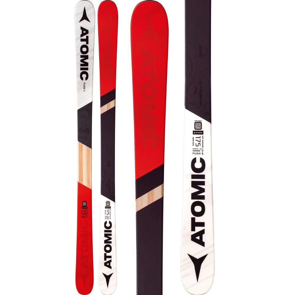 アトミック ユニセックス スキー・スノーボード ボード・板【Punx 5 Skis 2018】Red/ White