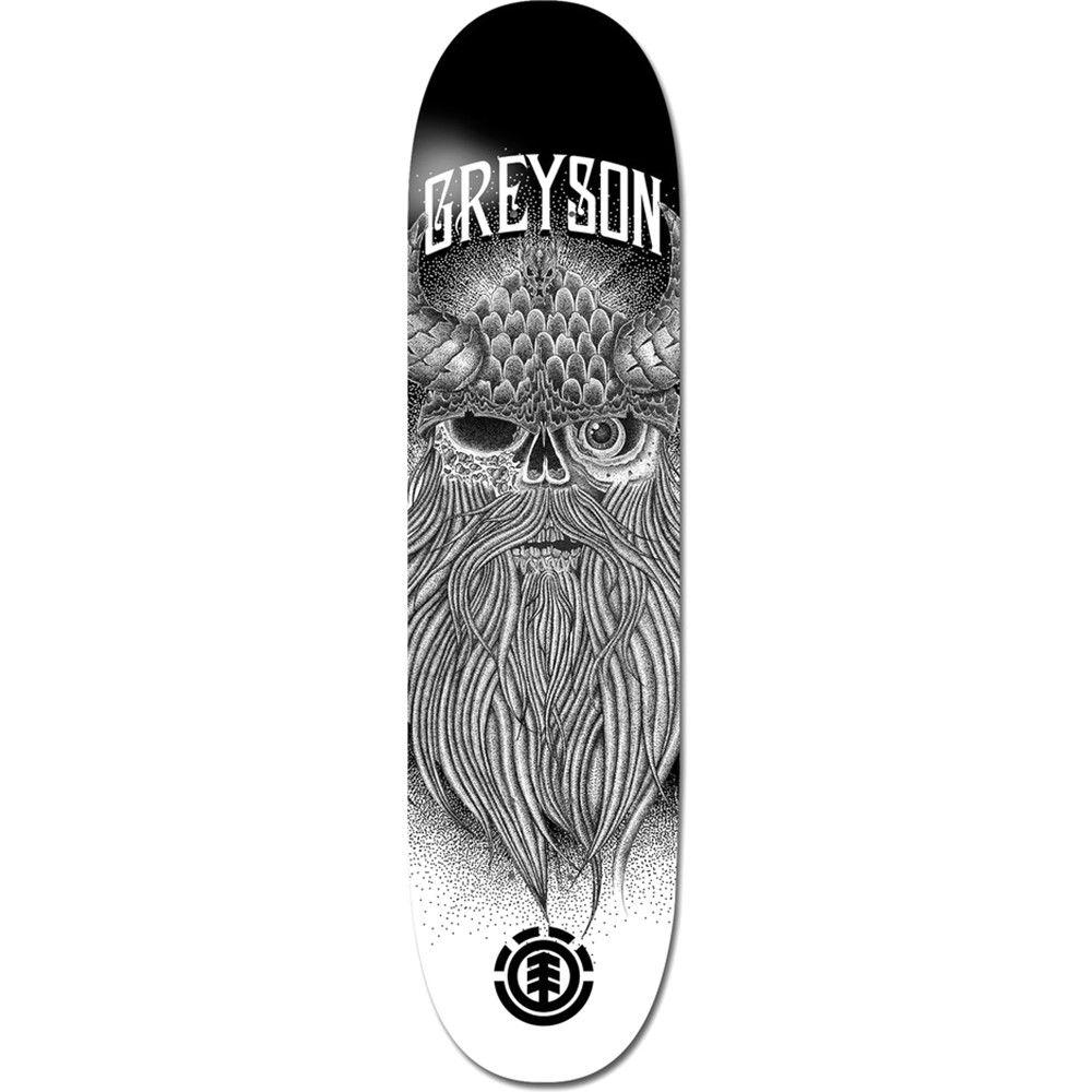 エレメント ユニセックス スケートボード ボード・板【Greyson Skull Skateboard Deck】