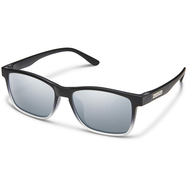 超美品の サンクラウド メンズ スポーツサングラス Polarized【Dexter Mirror Sunglasses】Black Crystal Fade/ Silver Polarized Polycarbonate Silver Mirror Lens, オートストック autostock:566508fc --- lionstours.com.br