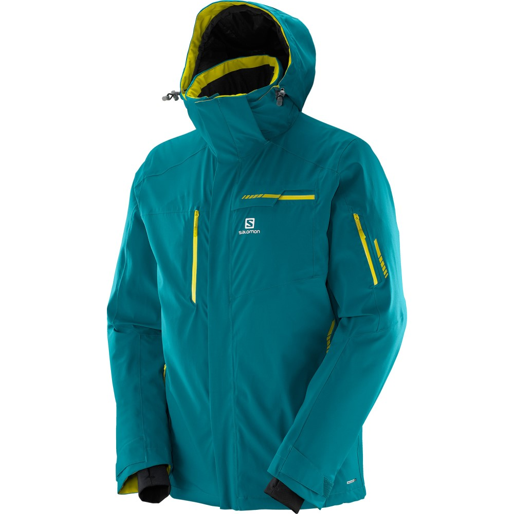 サロモン メンズ スキー・スノーボード アウター【Brilliant Ski Jacket】Blue Steel