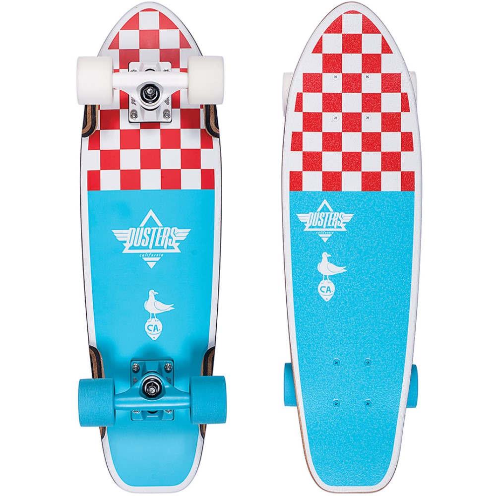 デュスターズ ユニセックス スケートボード ボード・板【Bird Checker Cruiser Complete】Blue/ Red