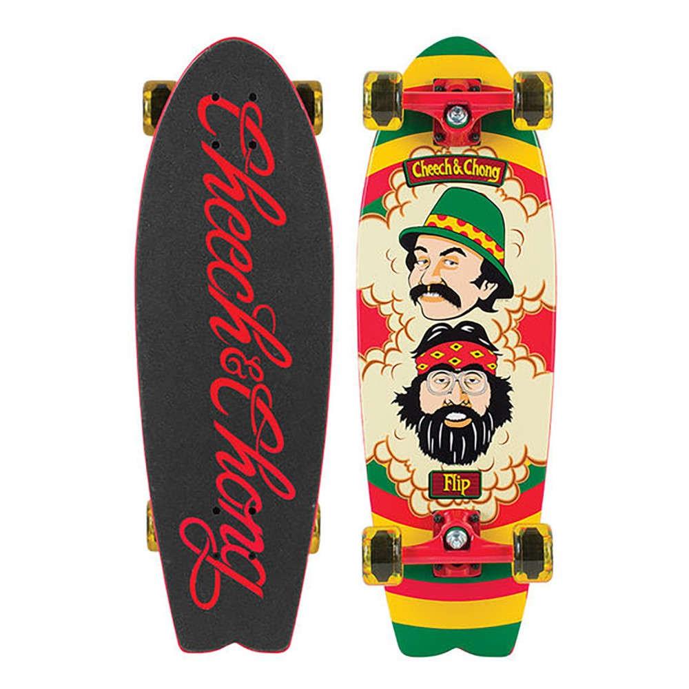 フリップ ユニセックス スケートボード ボード・板【Cheech And Chong Cruiser Complete】Rasta