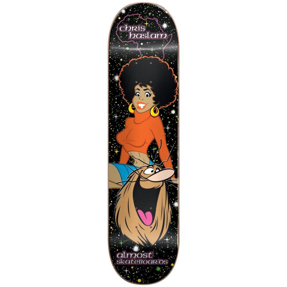 オルモスト ユニセックス スケートボード ボード・板【Caveman Blacklight Skateboard Deck】Black