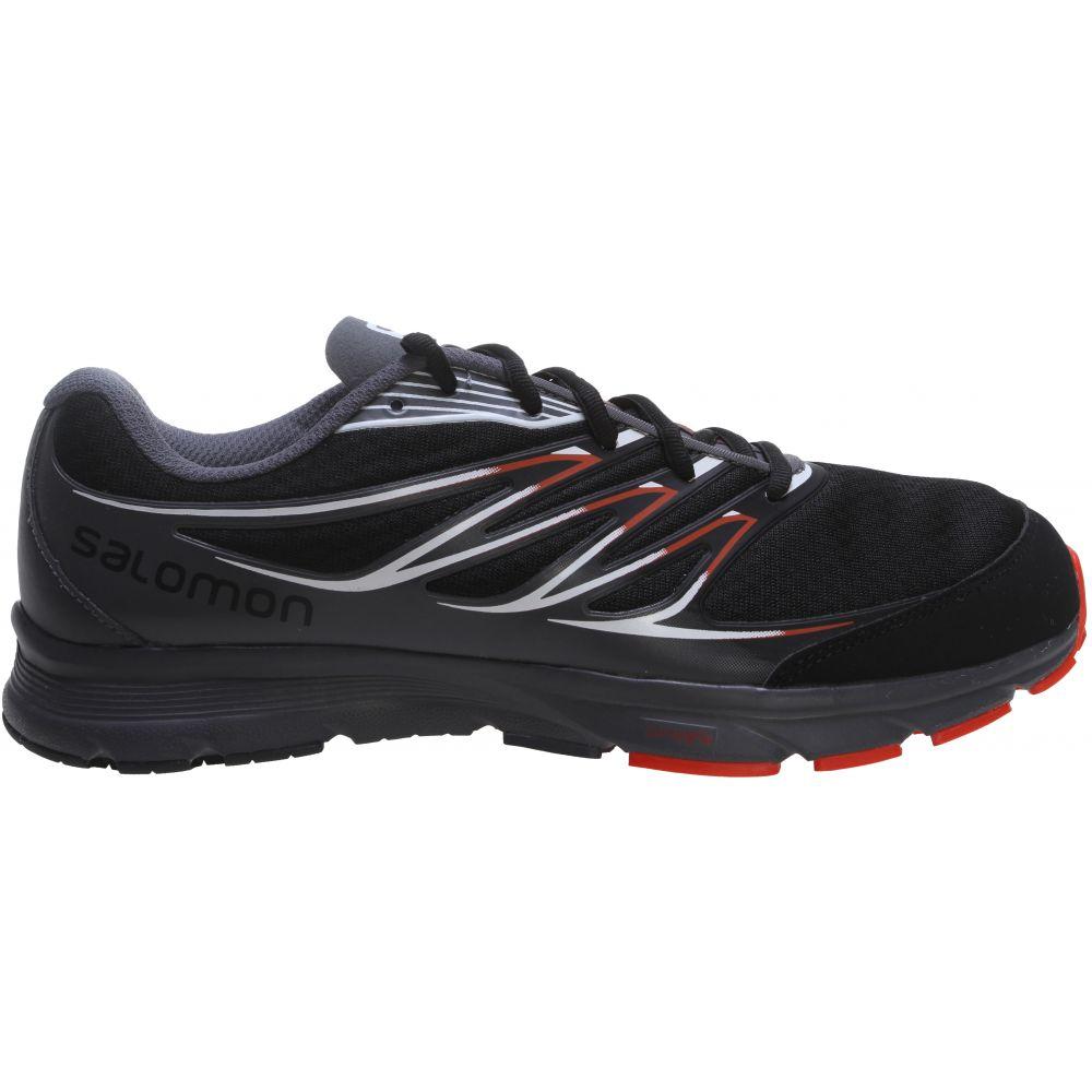 サロモン Salomon メンズ ランニング・ウォーキング シューズ・靴【Sense Link Trail Running Shoes】Black/Dark Cloud/Tomato Red