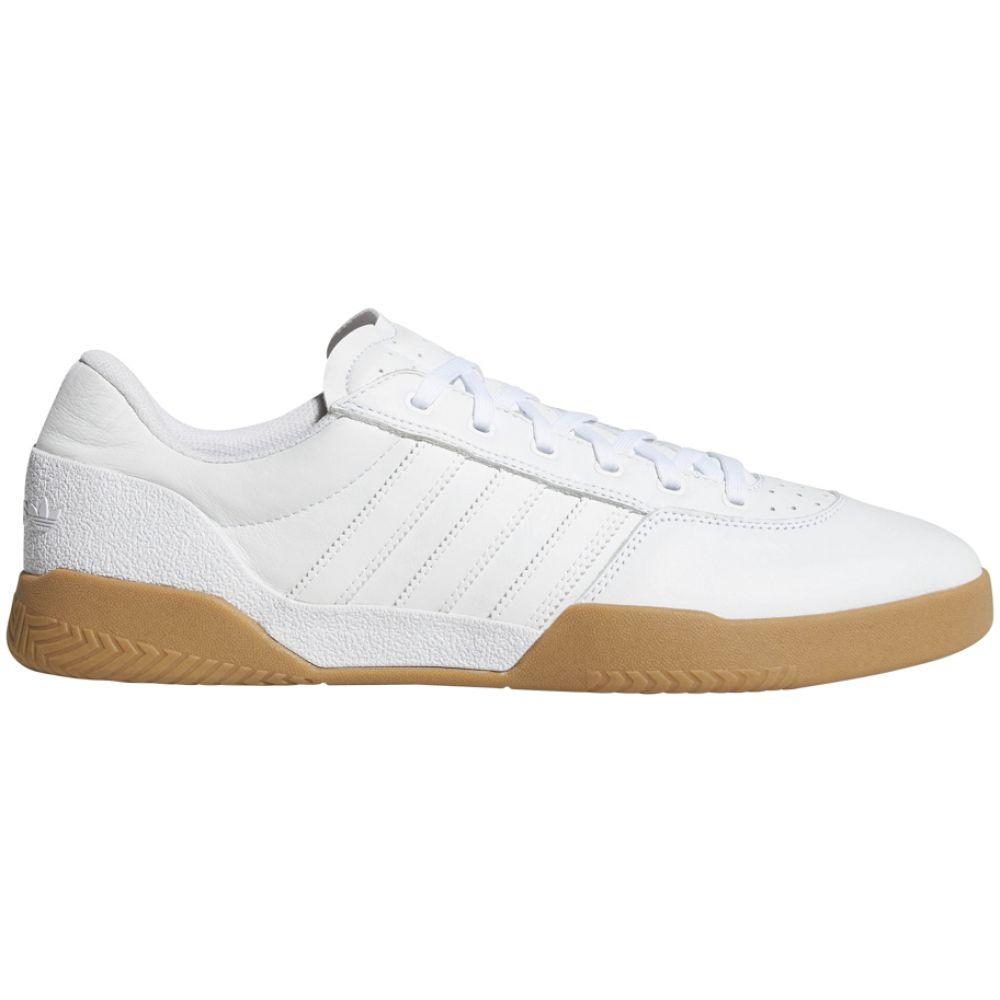 アディダス Adidas メンズ スケートボード シューズ・靴【City Cup Skate Shoes】White/White/Gum4