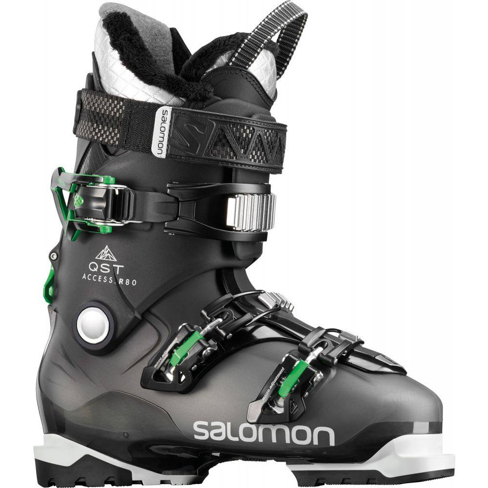 サロモン Salomon メンズ スキー・スノーボード シューズ・靴【QST Access R80 Ski Boots】Anthracite Transclucent/Black/True Green