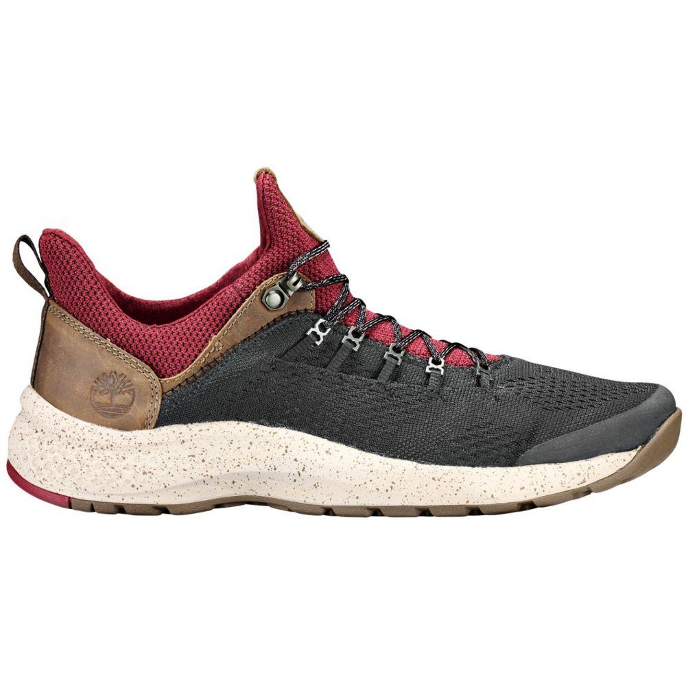 ティンバーランド Timberland メンズ ランニング・ウォーキング シューズ・靴【Flyroam Trail Shoes】Black/Burgundy Fabric/Cordura EcoMade Fiber