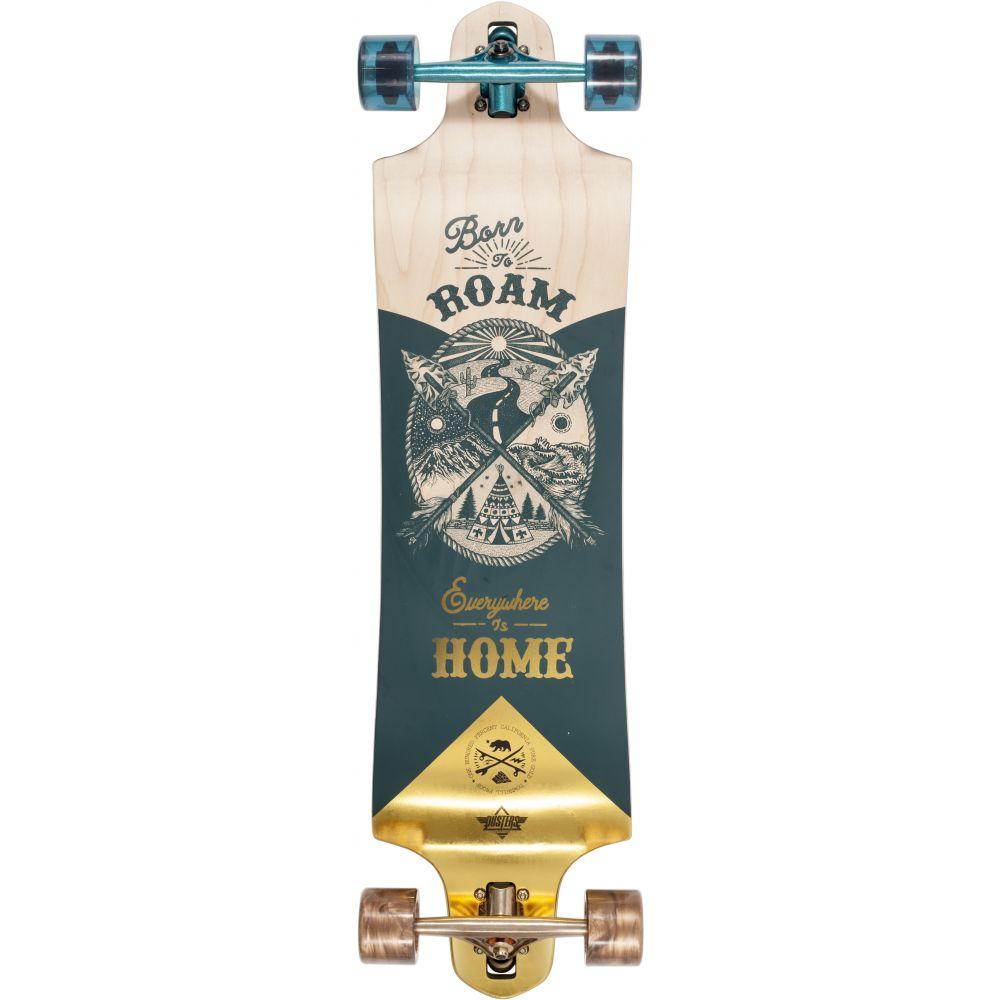 デュスターズ Dusters メンズ スケートボード ボード・板【Roam Longboard Complete】Gold/Green