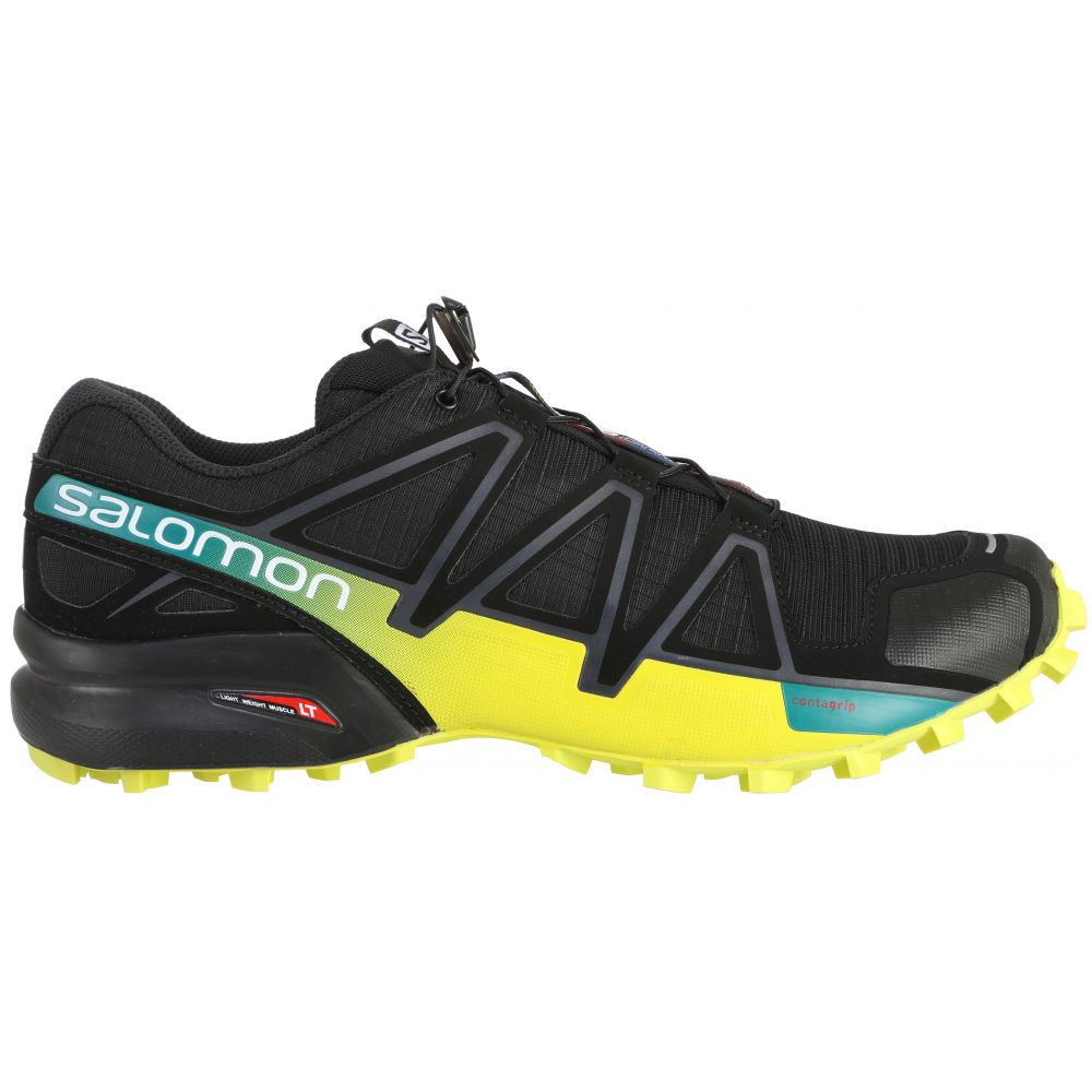 サロモン Salomon メンズ ランニング・ウォーキング シューズ・靴【Speedcross 4 Trail Running Shoes】Black/Sulphur Spring