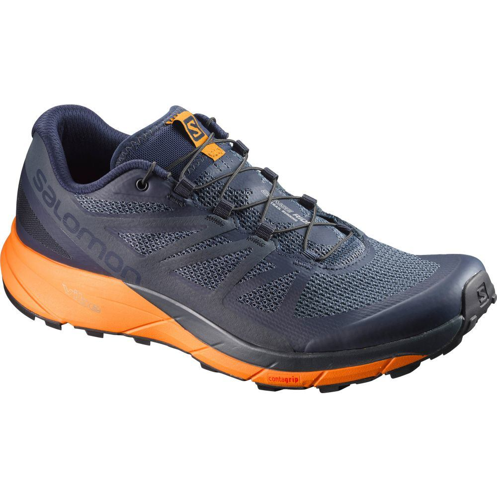 サロモン Salomon メンズ ランニング・ウォーキング シューズ・靴【Sense Ride Trail Running Shoes】Navy Blazer/Bright Marigold/Ombre Blue
