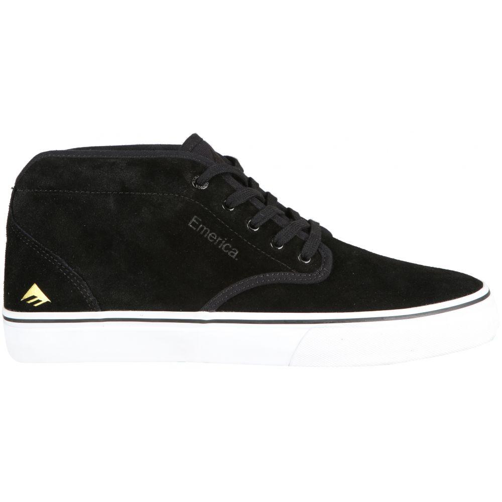 エメリカ Emerica メンズ スケートボード シューズ・靴【Wino G6 Mid Skate Shoes】Black/White/Gold