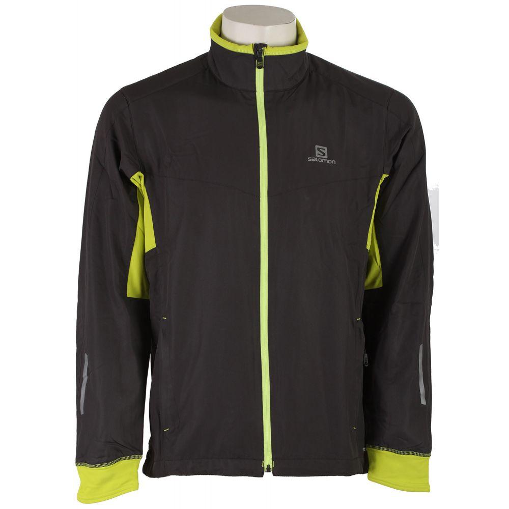 サロモン Salomon メンズ スキー・スノーボード アウター【Escape XC Ski Jacket】Galet Grey/Gecko Green