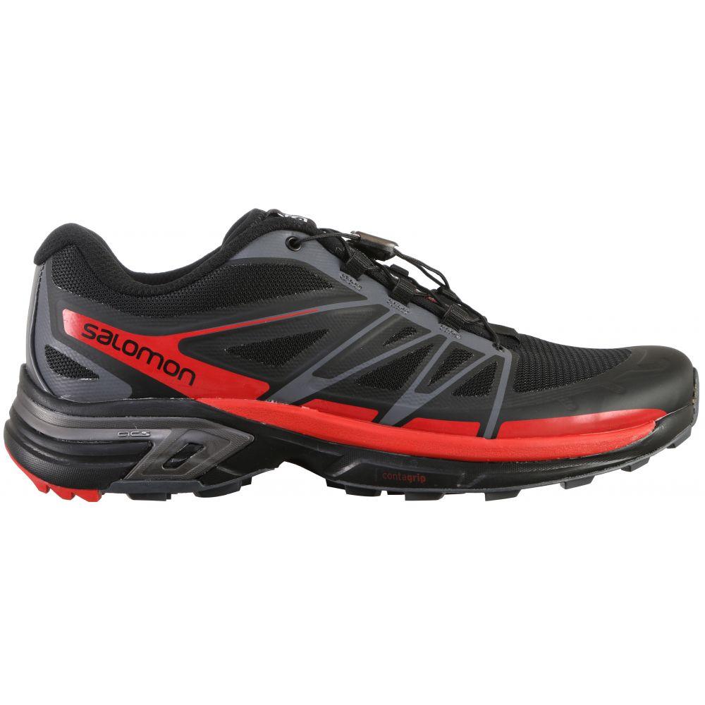 サロモン Salomon メンズ ランニング・ウォーキング シューズ・靴【Wings Pro 2 Trail Running Shoes】Black/Dark Cloud/Radiant Red