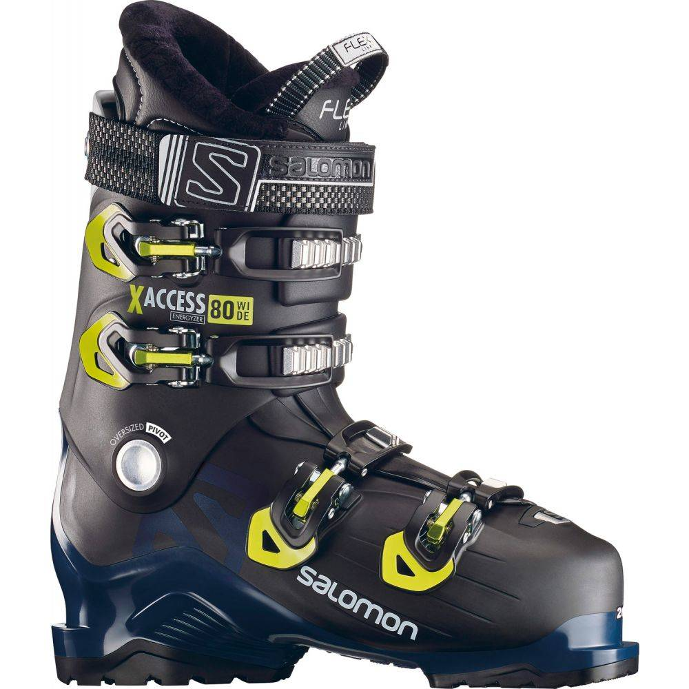 サロモン Salomon メンズ スキー・スノーボード シューズ・靴【X Access 80 Wide Ski Boots 2019】Black/Pestrol Blue/Acid Green