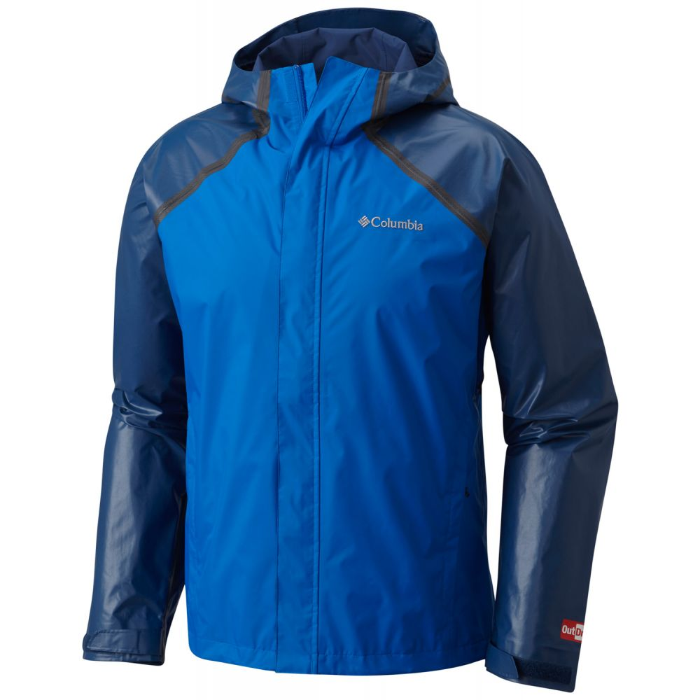 コロンビア Columbia メンズ アウター レインコート【OutDry Hybrid Rain Jacket】Super Blue/Carbon