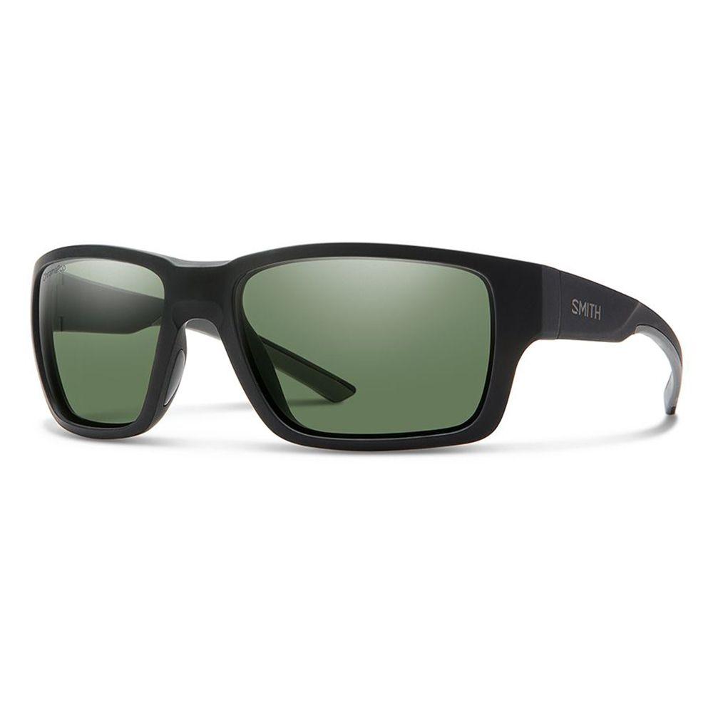 スミス Smith メンズ メガネ・サングラス【Outback Sunglasses】Matte Black/Polarized Grey Green Lens