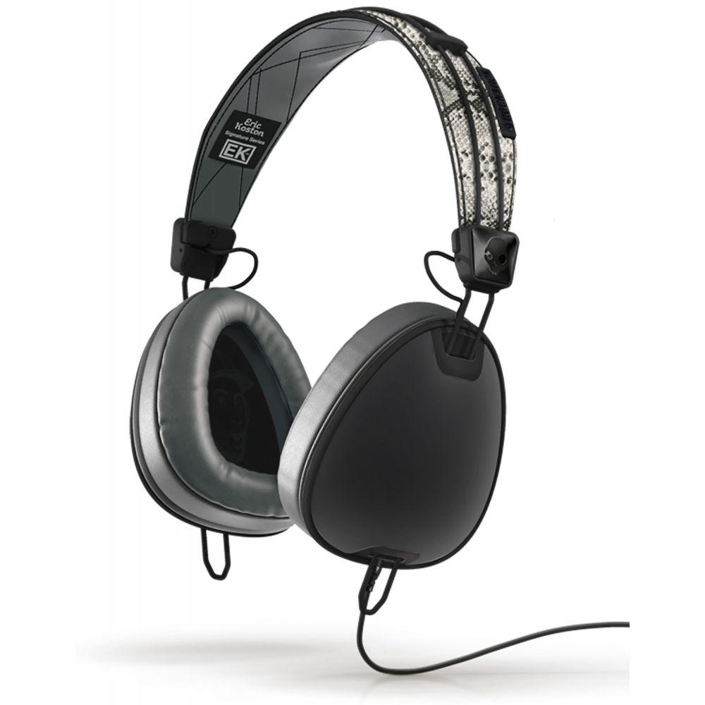 スカルキャンディー Skullcandy メンズ テックアクセサリー【Aviator w/ Mic Headphones】Koston/Snake/Black