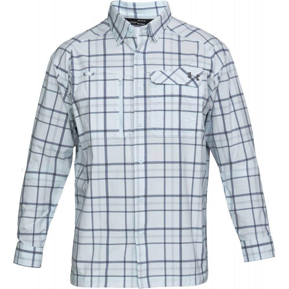 アンダーアーマー Under Armour メンズ トップス【Fish Hunter LS Plaid Shirt】Halogen Blue/Utility Blue/Graphite