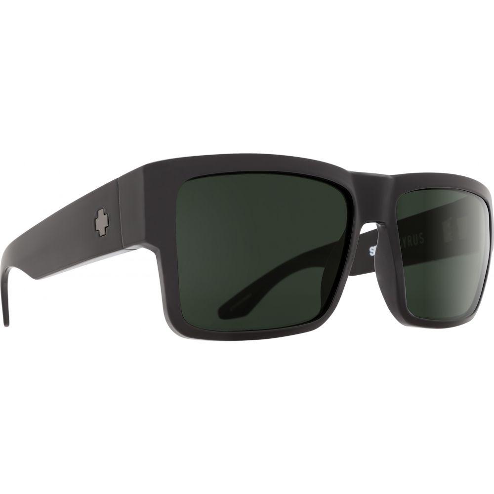スパイ Spy メンズ メガネ・サングラス【Cyrus Sunglasses】Soft Matte Black/Happy Grey Green Polarized Lens