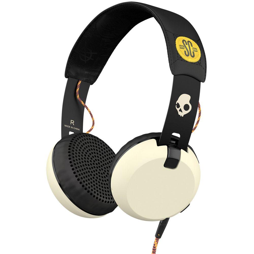 スカルキャンディー Skullcandy メンズ テックアクセサリー【Grind w/ TAP Headphones】Atg/Black/Cream