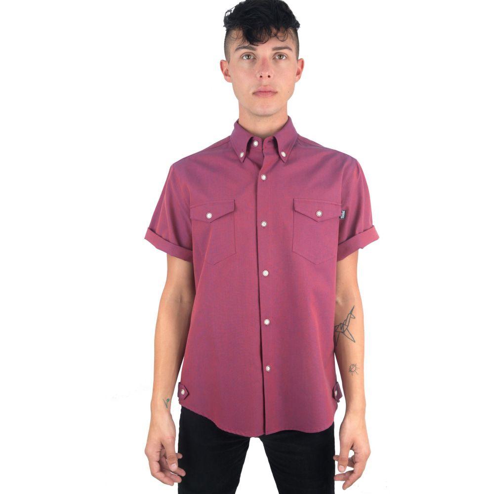 フェイデッドロイヤリティー Faded Royalty メンズ トップス シャツ【Cut And Sew Shirt】Maroon Blend