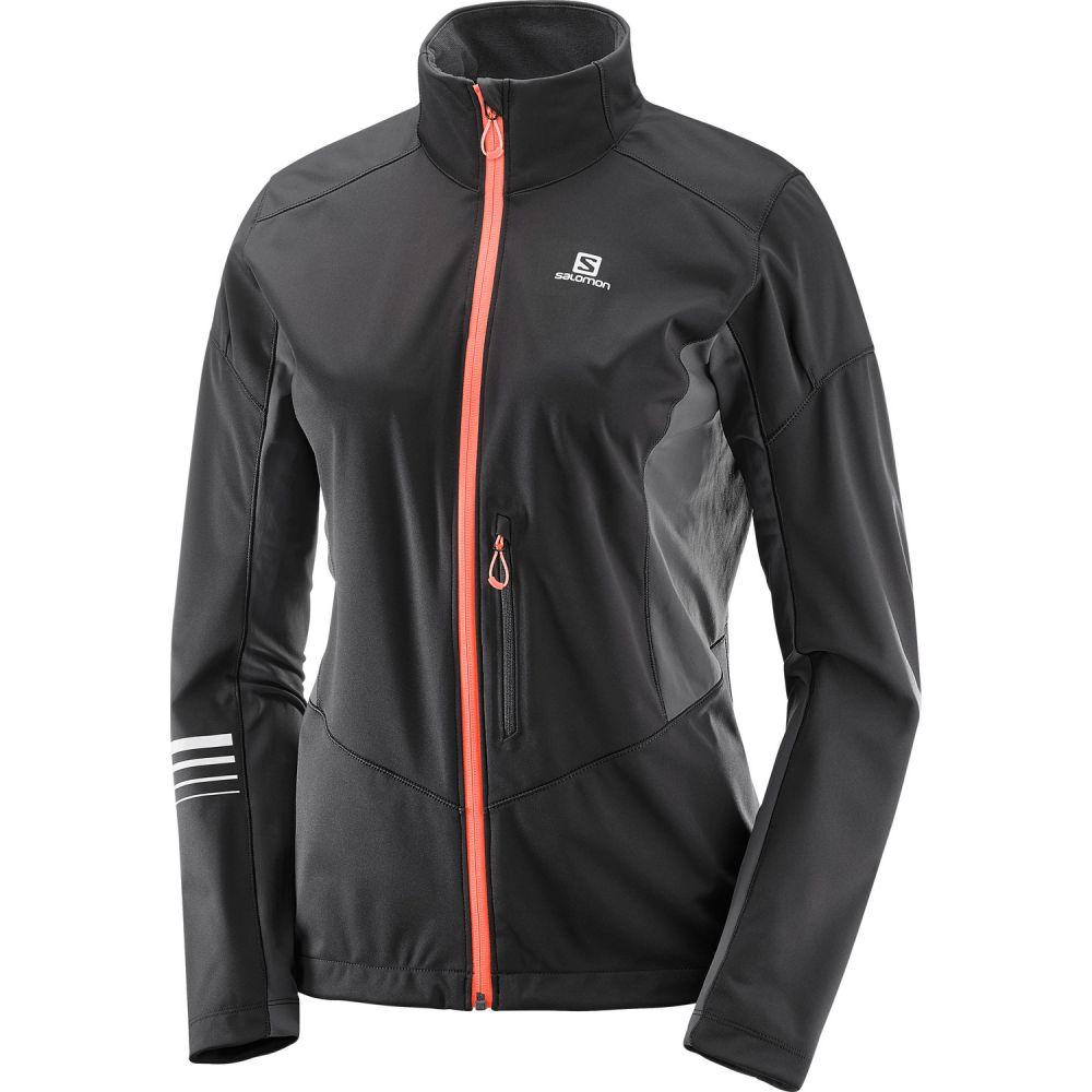 サロモン Salomon レディース スキー・スノーボード アウター【Lightning Softshell XC Ski Jacket】Black/Forged Iron