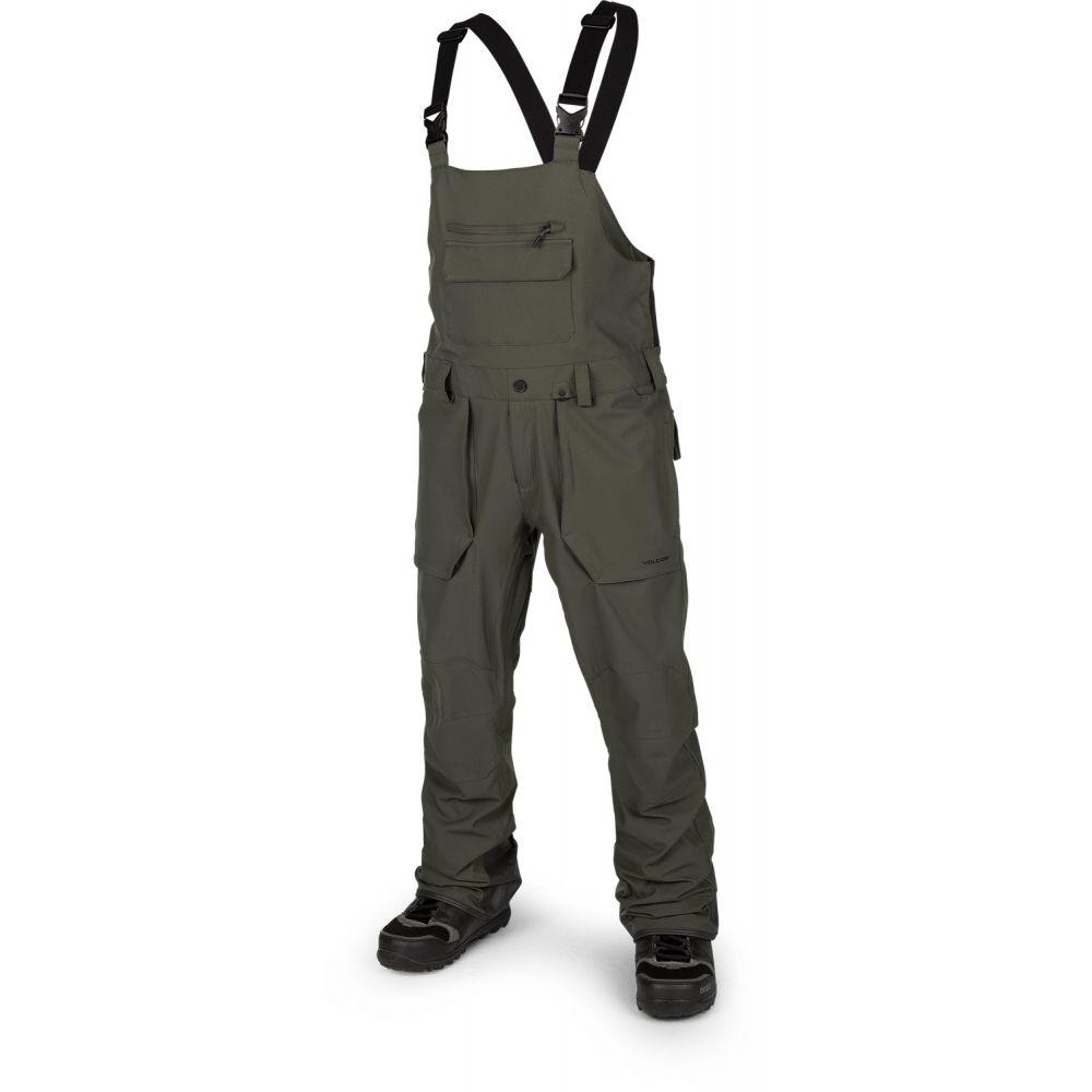 ボルコム Volcom メンズ スキー・スノーボード ボトムス・パンツ【Roan Overall Bib Snowboard Pants 2019】Black Green