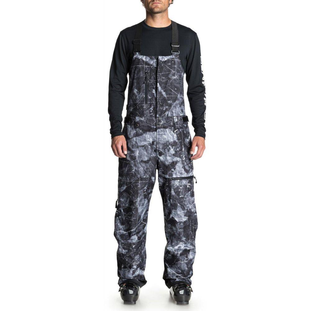 クイックシルバー Quiksilver メンズ スキー・スノーボード ボトムス・パンツ【Stratus Bib Snowboard Pants 2019】Black Tannenbaum