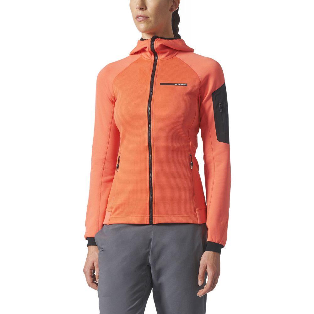 アディダス Adidas レディース トップス フリース【Terrex Stockhorn Hooded Fleece】Easy Coral