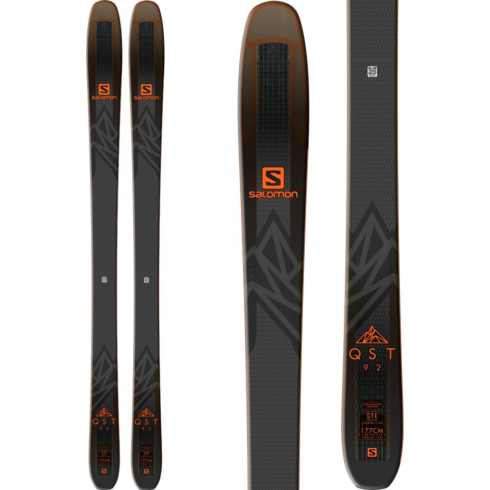 サロモン Salomon メンズ スキー・スノーボード ボード・板【QST 92 Skis 2019】Black/Orange