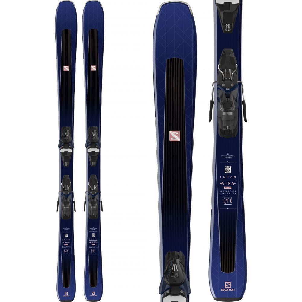 サロモン Salomon レディース スキー・スノーボード ビンディング【Aira 80 Ti Skis w/ Mercury 11 Bindings 2019】Black