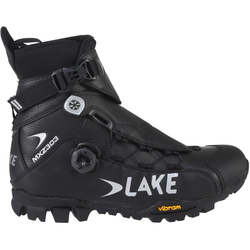 レイク Lake メンズ 自転車 シューズ・靴【MXZ303-X Wide Winter Bike Boots】Black/Silver