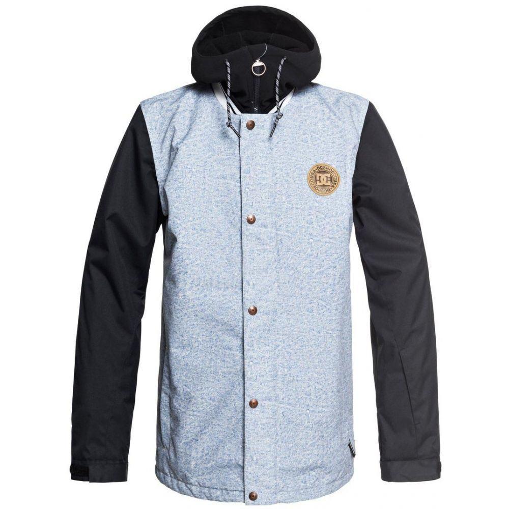 ディーシー DC メンズ スキー・スノーボード アウター【LA Snowboard Jacket 2019】Light Blue Acid Wash Denim B