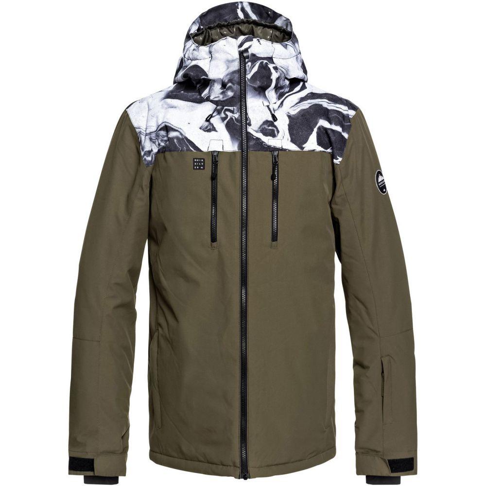 クイックシルバー Quiksilver メンズ スキー・スノーボード アウター【Mission Block Snowboard Jacket 2019】White/Highline