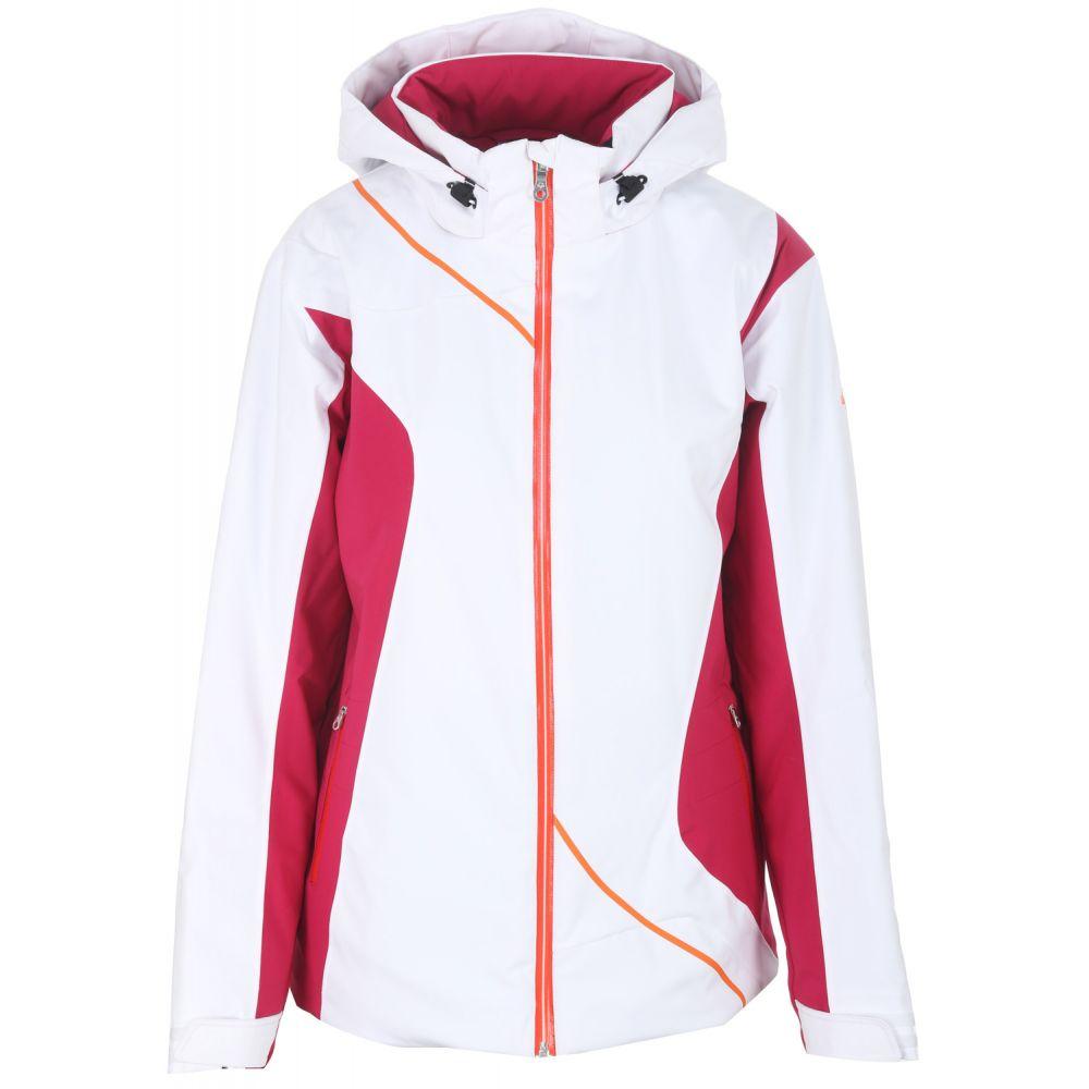 デサント Descente レディース スキー・スノーボード アウター【Danica Ski Jacket】Super White/Sangria/Electric Orange