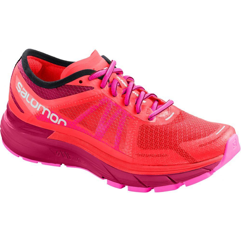 サロモン Salomon レディース ランニング・ウォーキング シューズ・靴【Sonic RA Max Running Shoes】Coral/Cerise/Pink Glo