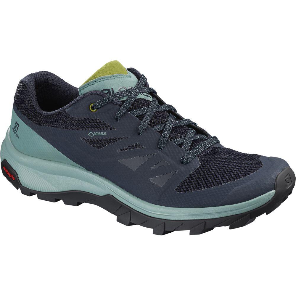 サロモン Salomon レディース ハイキング・登山 シューズ・靴【Outline GTX Hiking Shoes】Trellis/Navy Blazer/Guacamole