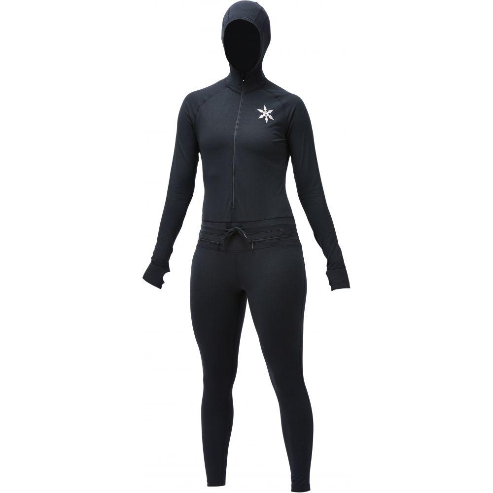 エアブラスター Airblaster レディース Baselayer スキー レディース・スノーボード トップス【Classic 2020】Black Ninja Suit Baselayer 2020】Black, 竹田市:ac049054 --- sunward.msk.ru