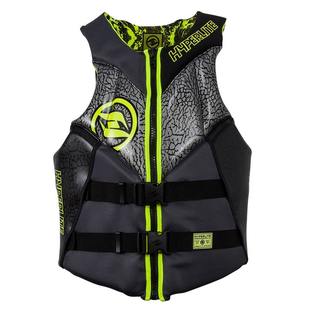 ハイパーライト Hyperlite メンズ トップス【Alibi CGA Wakeboard Vest 2019】Black/Flouro