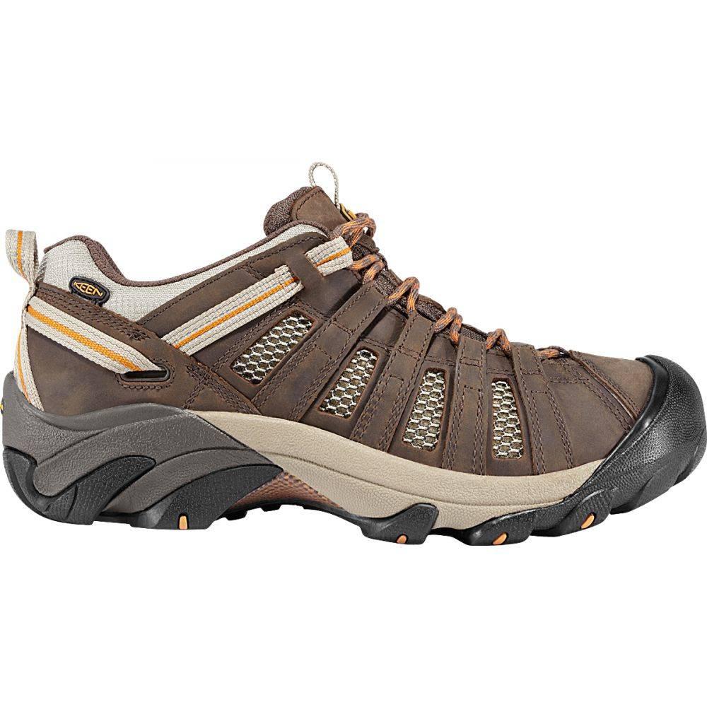 キーン Keen メンズ ハイキング・登山 シューズ・靴【Voyageur Low Hiking Shoes】Black Olive/Inca Gold