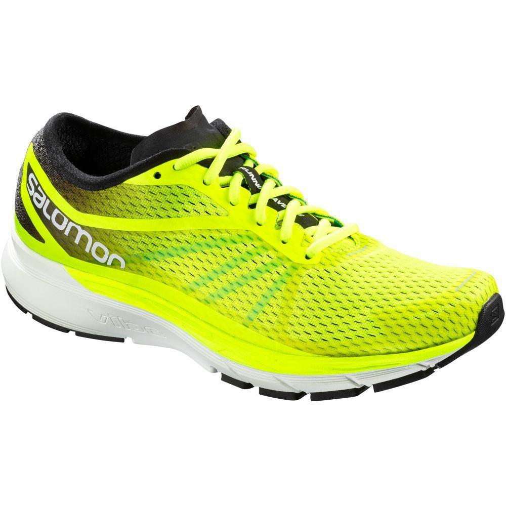 サロモン Salomon メンズ ランニング・ウォーキング シューズ・靴【Sonic RA Pro Running Shoes】Safety Yellow/Black/Bluebird