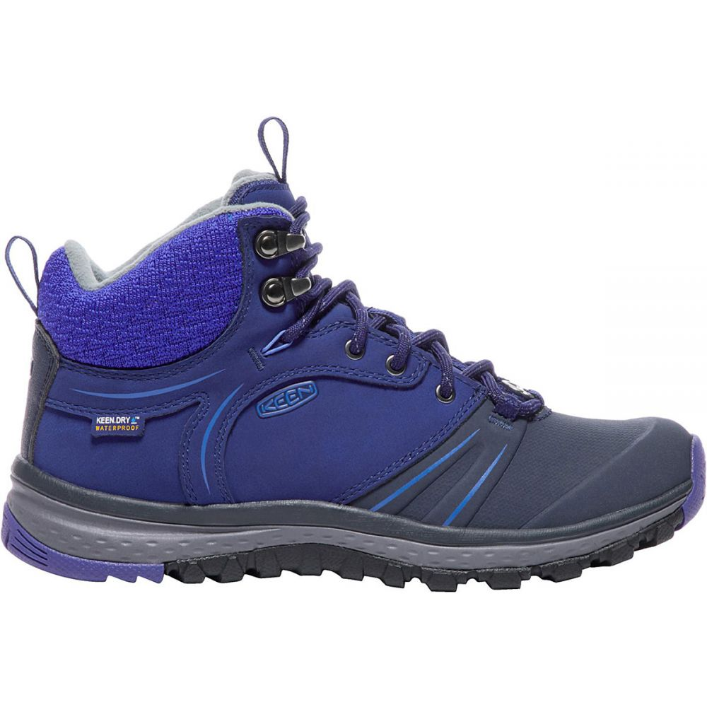キーン Keen レディース ハイキング・登山 シューズ・靴【Terradora Wintershell Mid WP Hiking Boots】Blueprint/Royal Blue