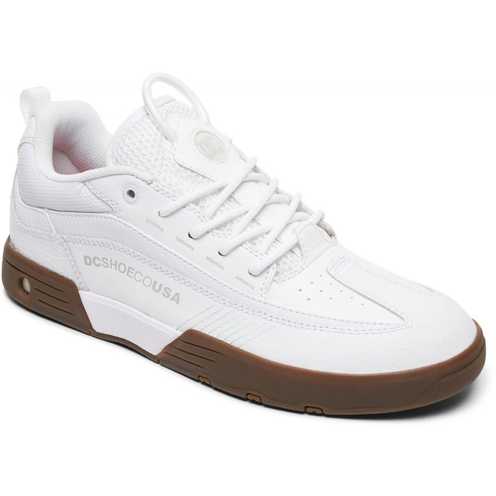 DC Shoes Mens Legacy 98 Slim S Skate Shoes White//Athletic Red//B 10.5