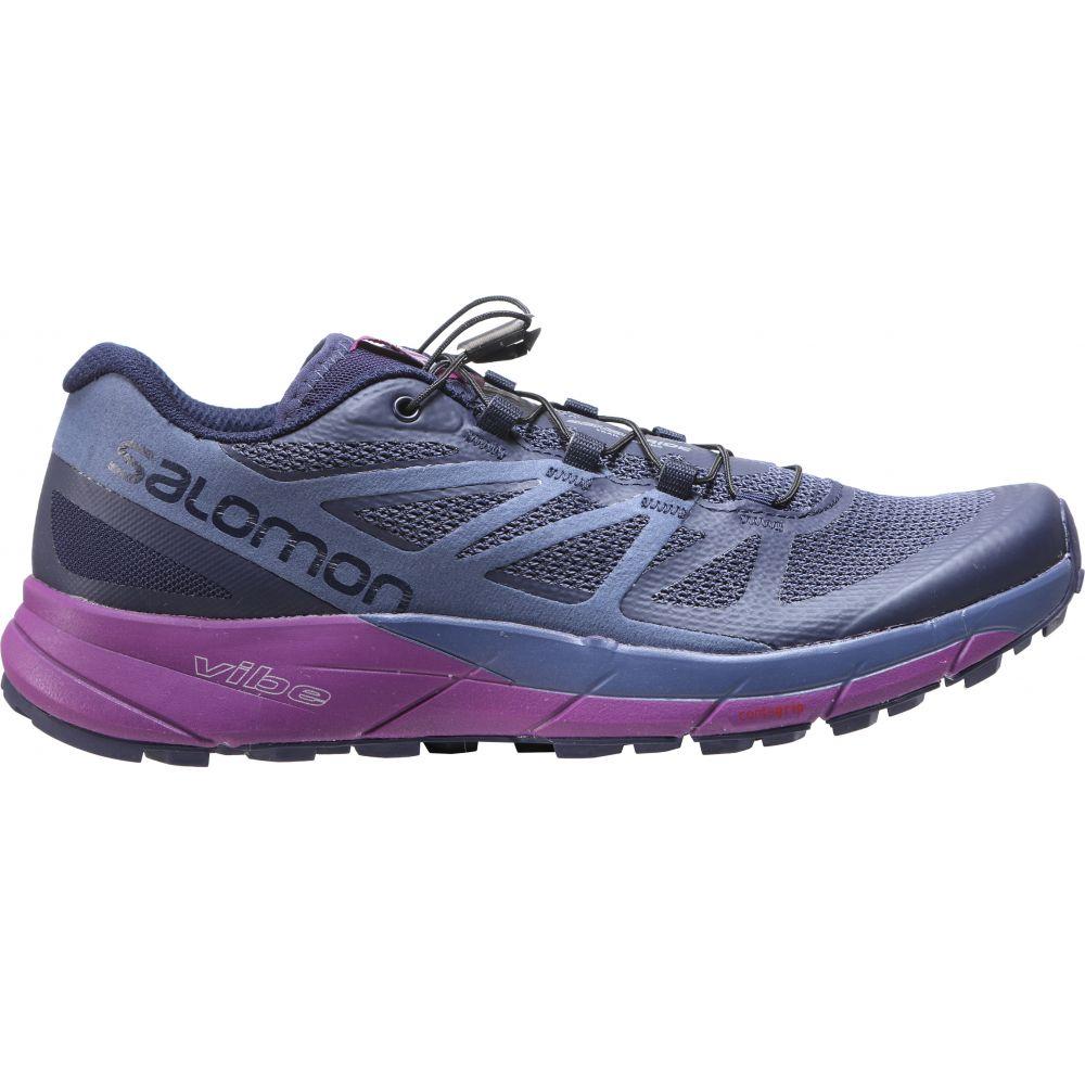 サロモン Salomon レディース ランニング・ウォーキング シューズ・靴【Sense Ride Trail Running Shoes】Evening Blue/Crown Blue/Grape Juice