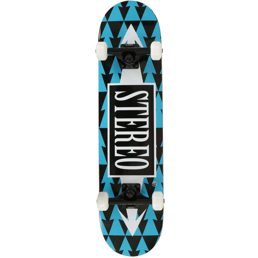 ステレオ Stereo メンズ スケートボード ボード・板【Arrow Pattern Skateboard Complete】Blue