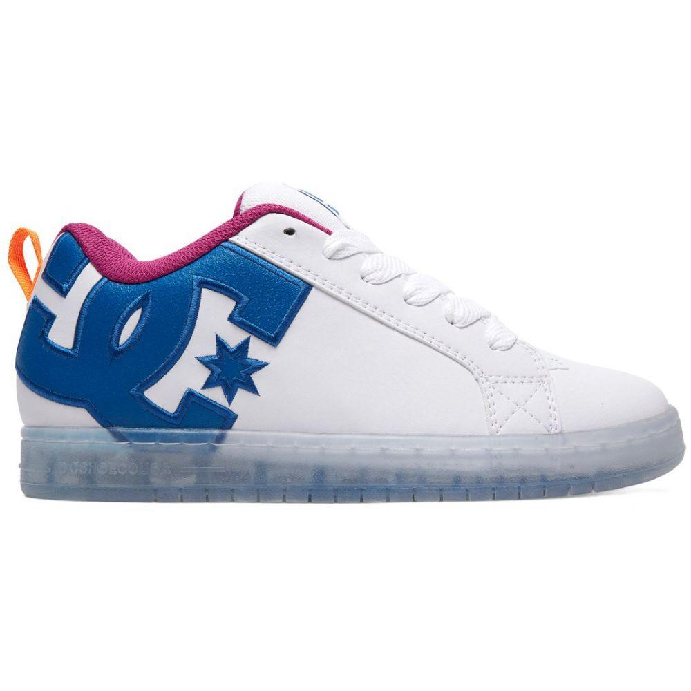ディーシー DC メンズ スケートボード シューズ・靴【Court Graffik SE Skate Shoes】White/Black/Cyan