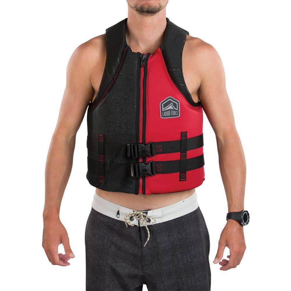 リキッドフォース Liquid Force メンズ トップス【Hinge CGA Wakeboard Vest 2019】Black/Red